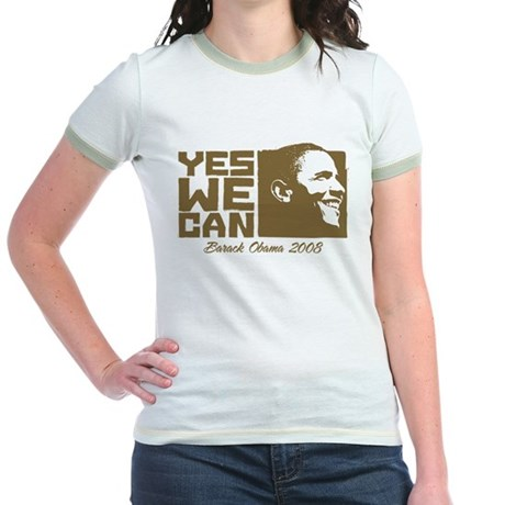 Yes We Can (brown) Jr. Ringer T-Shirt