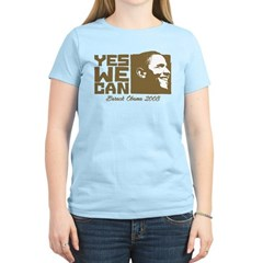 Yes We Can (brown) Women's Light T-Shirt