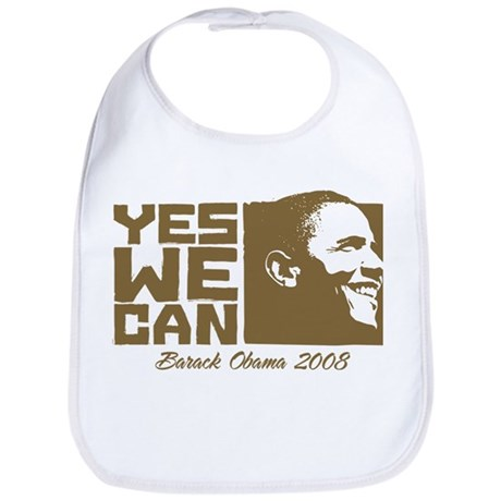 Yes We Can (brown) Bib