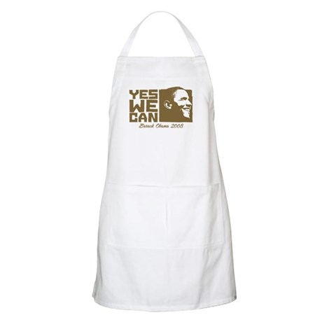 Yes We Can (brown) BBQ Apron