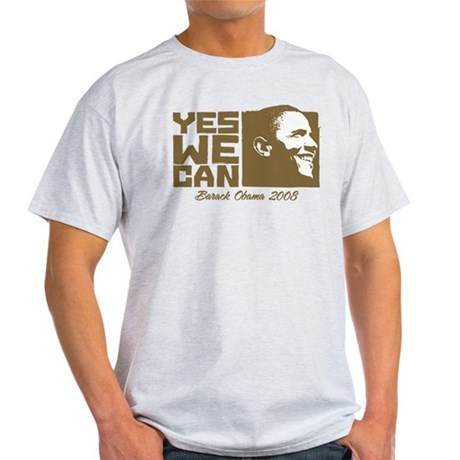 Yes We Can (brown) Light T-Shirt