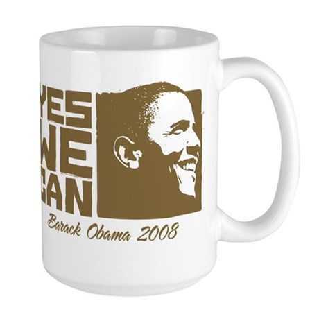 Yes We Can (brown) Large Mug