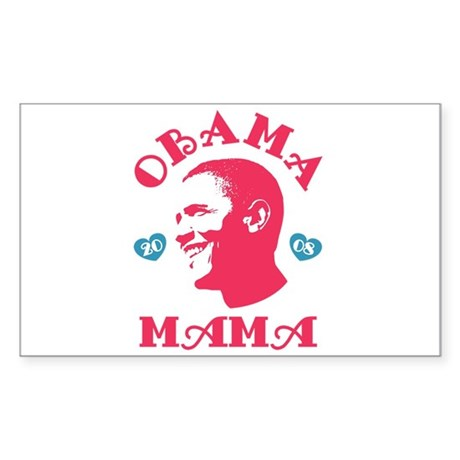 Obama Mama Rectangle Sticker