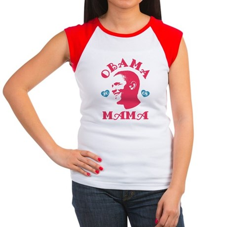 Obama Mama Womens Cap Sleeve T-Shirt