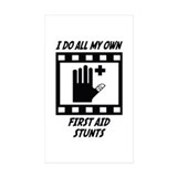First Aid Stunts Rectangle Sticker 10 pk)