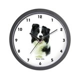 Border Collie 9A015D-24 Wall Clock