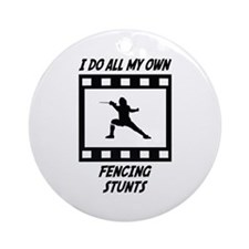 Fencing Stunts Ornament (Round)