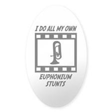 Euphonium Stunts Oval Sticker (50 pk)