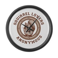 Squirrel Lovers Large Wall Clock