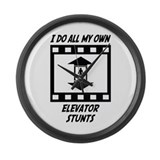 Elevator Stunts Large Wall Clock