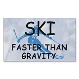 TOP Ski Faster Than Gravity Rectangle Sticker 10