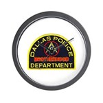Dallas PD Mason Wall Clock