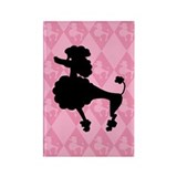 Poodle in Pink Rectangle Magnet