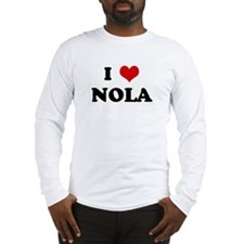 I Love NOLA Long Sleeve T-Shirt