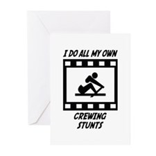 Crewing Stunts Greeting Cards (Pk of 10)