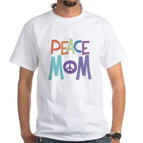 Peace Mom Men's White T-Shirt