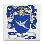 Maillard Family Crest Tile Coaster