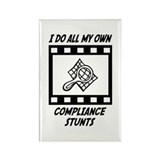 Compliance Stunts Rectangle Magnet