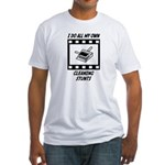 Cleaning Stunts Fitted T-Shirt
