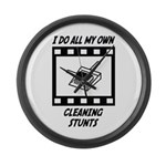 Cleaning Stunts Large Wall Clock