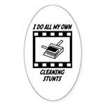 Cleaning Stunts Oval Sticker