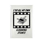 Cleaning Stunts Rectangle Magnet (100 pack)