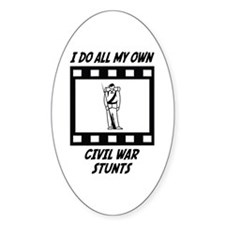 Civil War Stunts Oval Decal