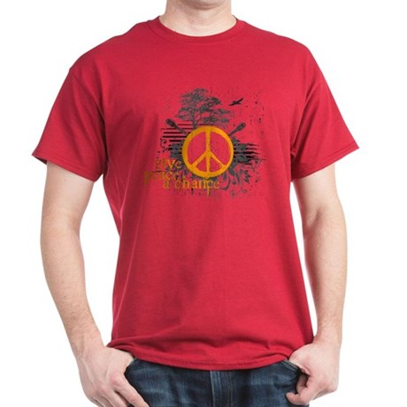 Give Peace Scene - Orange Dark T-Shirt