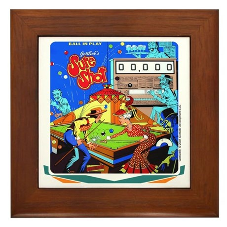 "Gottlieb® ""Sure Shot"" Framed Tile"