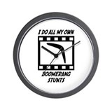 Boomerang Stunts Wall Clock