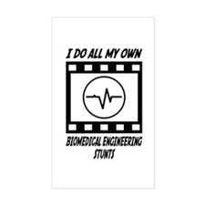 Biomedical Engineering Stunts Rectangle Decal
