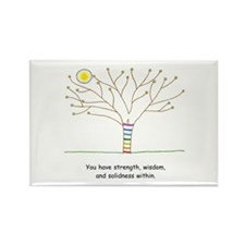 New Age Tree Wisdom Rectangle Magnet