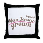 Organic! New Jersey Grown! Throw Pillow