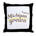 Organic! Michigan Grown! Throw Pillow