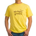 Organic! Michigan Grown! Yellow T-Shirt