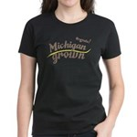Organic! Michigan Grown! Women's Dark T-Shirt