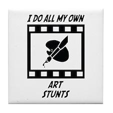 Art Stunts Tile Coaster