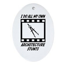 Architecture Stunts Oval Ornament