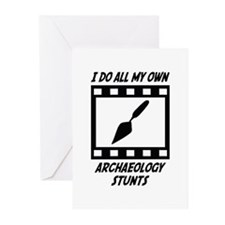 Archaeology Stunts Greeting Cards (Pk of 10)