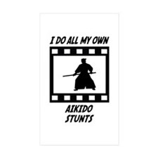 Aikido Stunts Rectangle Sticker 50 pk)