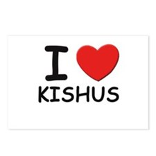 I love KISHUS Postcards (Package of 8)