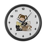 Puppy Dog Friends Large Wall Clock