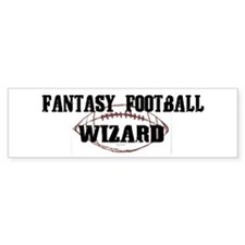 Fantasy Football Wizard Bumper Bumper Sticker