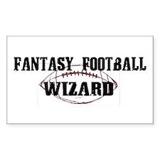 Fantasy Football Wizard Rectangle Decal