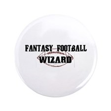 "Fantasy Football Wizard 3.5"" Button (100 pack)"