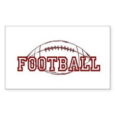 Football Rectangle Decal