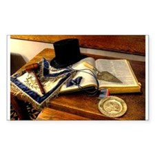 Worshipful Master Rectangle Sticker 50 pk)