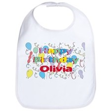 Happy Birthday Olivia Bib