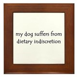 dietary indiscretion Framed Tile