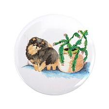 "Pom Blk & Tan w/Cactus 3.5"" Button"